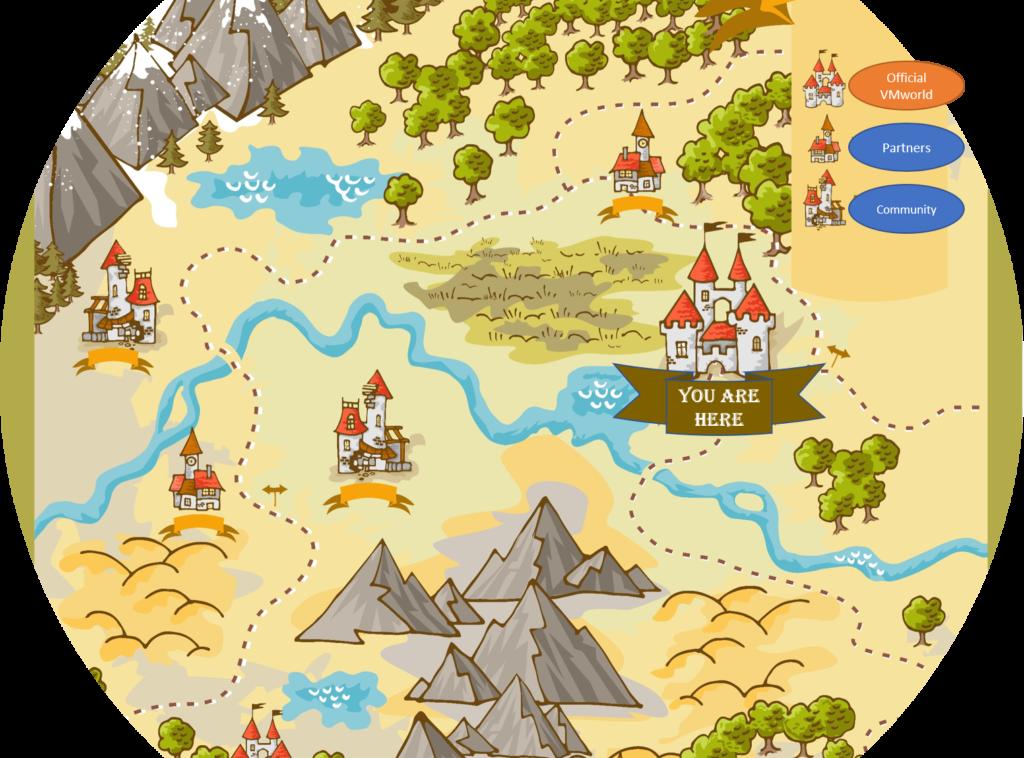 online adventure map for VMworld